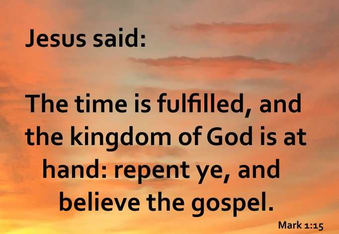Image result for jesus said repent and believe